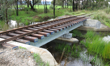 3km bridge at Hotham Valley Railway following heavy rains at the end of May.