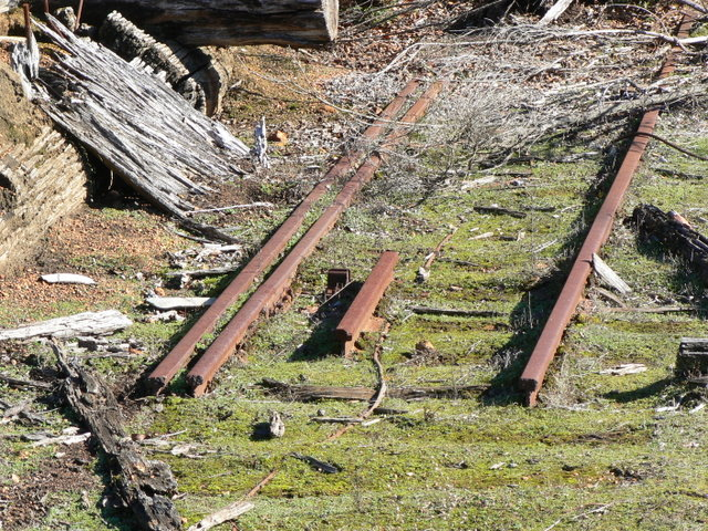 Rusting rails at Donnelly River mill.