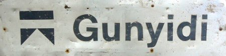 Gunyidi station board